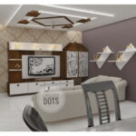 Hall and TV unit design