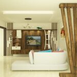 spacious and rich hall look and design