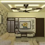 beautiful living space and tv unit design