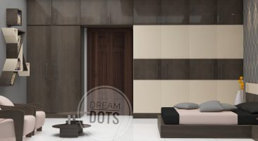 3D smart bedroom design