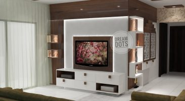 TV Unit Design for Hall